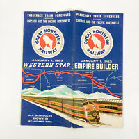 1963 Great Northern Railway Time Table Western Star Empire Builder Railroad