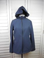 Halifax HFX Hooded Jacket Womens Large Blue Coat Ladies Outdoors Hoodie Full Zip