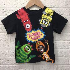 Boys YO GABBA GABB T-Shirt Sz. 4T 100% Cotton Black • VGUC‼ • FREE S/H‼