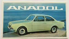 1967 Anadol Otosan Turkey Original Car Sales Brochure Catalog - Ford Ogle