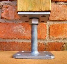 Porta pilastro regolabile in altezza per pali 12x12 supporto in acciaio zincato