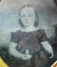 ANTIQUE AMERICAN DOLL TINTYPE FOLK ART PAINTING BALCH DAGUERREIAN NY VT PHOTO