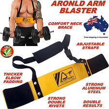 AUSTODEX WEIGHT LIFTING BODYBUILDING TRAINING BICEP ARM BLASTER EZ BAR CURL ARMS