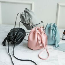 02ff7babed Women Crossbody Bag Phone Purse Faux Leather Bucket Bag Cards Wallet  Drawstring