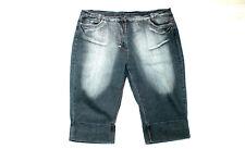 STRETCH CAPRI JEANS blau Denim Sommer Hose 48 50 Umschlag Five Pocket Stretch #8