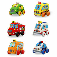 Plush Pull Back Car Toy Stuffed Model Vehicles Child Educational Toys Kids Gift