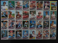 1985 Topps Philadelphia Phillies Team Set of 32 Baseball Cards