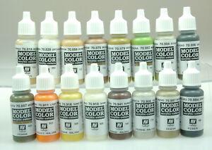 Vallejo 70141 Model Color Farbset, Erdtöne, 16x17 ml