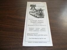 APRIL 1939 LEHIGH VALLEY TRANSIT SYSTEM PUBLIC TIMETABLE