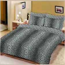ANIMAL PRINTED LEOPARD DOUBLE BLACK 50/%POLLY//50/%COTTON  DUVET QUILT COVER SET✅