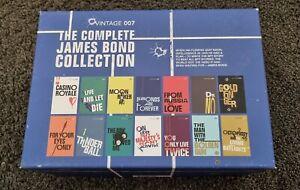James Bond Collection Boxset 14 Paperback Books Ian Fleming Collectors edition