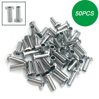 """50pcs T316 Stainless Steel Protective Sleeves for 1/8"""" 5/32"""" 3/16"""" Cable Railing"""