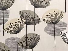 SANDERSON 'Dandelion Clocks' CURTAIN CUSHION BLIND COTTON FABRIC 2.7m NEUTRAL