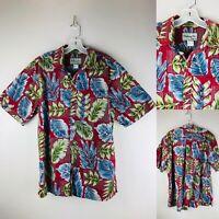 Bishop Street Hawaiian Mens Shirt LVINTAGE Made In Hawaii Palm Aloha Tiki Luau
