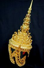 CHADA Man Ram Thai crystal Headdress Crown Dancer Costume Handmade Collectible