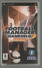 FOOTBALL MANAGER HANDHELD 2009 - UK SONY PSP UMD GAME - complete with manual