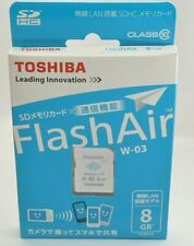 TOSHIBA FlashAir Wireless LAN-abilitata 8GB Scheda SDHC Classe 10 Giappone SD-WE008G