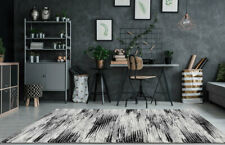 Large New Rugs Contemporary Abstract Carpets Grey Black Decorative Area Rugs