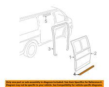 GM OEM Side Sliding Door-Lower Weatherstrip Seal 22790770