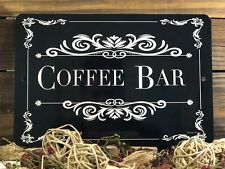 Coffee Bar Sign- Wedding Decor - Party Decor Sign - 12x8 Sign - Coffee