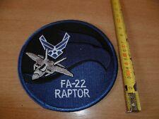 (P6) ECUSSON PATCH USA ARMY   FA-22 RAPTOR
