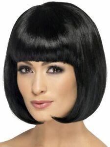 Smiffys Womens Partyrama Wig Short Bob Costume Hair Black