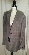 Peter MillarLoro Piana Summertime Windowpane Jacket in DURF MS18RJ05 42 L $898