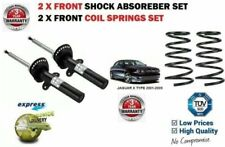 FOR JAGUAR X TYPE 2001-2009 NEW 2x FRONT SHOCK ABSORBER SET + 2 X COIL SPRINGS