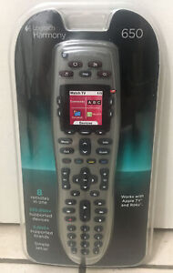 Logitech Harmony 650 All in One Programmable Remote Control Universal Silver New