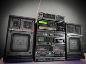 SONY FH-55W + CDP-7F (1986) 🔥RAREST🔥 Vintage Stereo Boombox System
