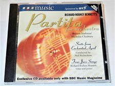 Richard Rodney Bennett ENCHANTED APRIL and PARTITA FOR ORCHESTRA 4 JAZZ SONGS CD