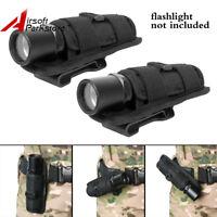 2pcs Tactical Rotatable Belt Clip Flashlight Holster Pouch for SureFire G2 G3 6P