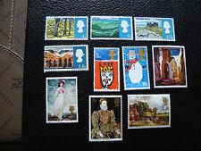 ROYAUME-UNI - timbre yvert et tellier n° 437 a 440 461 462 542 a 545 n** (A27)