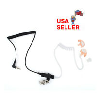 1 PIN 3.5mm Covert Acoustic Tube Earpiece Earphone Headset for Motorola Radio