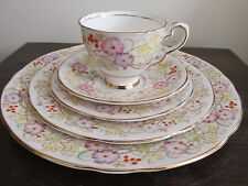 Vintage Royal Stafford England Hedgerow  Vine Berries 5 Piece Place Setting(s)