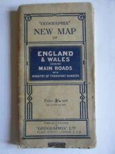 England 1940-1949 Date Range Antique Europe Folding Maps