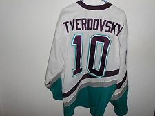 Vintage Oleg Tverdovsky Anaheim Mighty Ducks CCM XL Jersey NHL