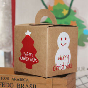 Christmas Apple Carrier Boxes Party Favours Sweet Biscuit Candy Gift Treat Pack