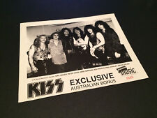 KISS EXCLUSIVE AUSTRALIAN BONUS BLOCKBUSTER MUSIC PHOTO CARD OFFICIAL ORIGINAL