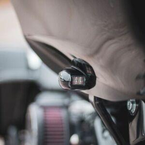 Custom Dynamics Black Front LED Turn Signals 15-21 Harley Road Glide FLTRX FLTRU