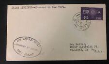 1960 Shannon Ireland First Flight Cover FFC To New York Usa Shamrock Jet Service