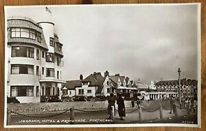 Postcard RPUP Porthcawl, Seabank Hotel & Promenade, Wales. Social History.