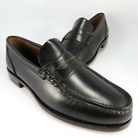 NEW - Timberland Penny Loafers Men's Size 9.5W Black Leather Slip-On Dress Shoes