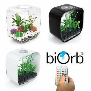 Oase BiOrb Life 30 Aquarium Fish Tank MCR LED Light Filter Black White Clear 30L