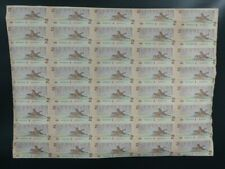 1986 CANADA 2 DOLLARS BANK NOTE UNCUT SHEET X40
