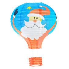 Xmas Santa Claus Hot Air Balloon Paper Lantern Lampshade Ceiling Light Decor