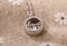"""1.5CT Love Diamond 925 Sterling Silver necklace 18"""" Chain Heart her gift MOM#115"""