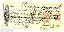FRANCE BILLET à ORDRE UNITED STATES NEW YORK 1899 TIMBRES USA HERMANN LOWENSTEIN
