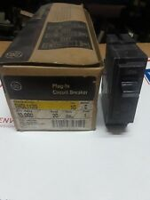 NEW -- GE CIRCUIT BREAKER THQL1120 PLUG IN TYPE 20A 1 POLE VOLTS 120/240AC