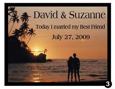 15 CUSTOMIZED BEACH WEDDING FAVORS MAGNETS